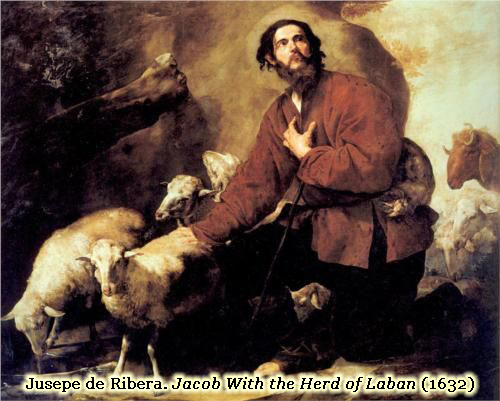 Jacob Among the Sheep: Herd of Laban: 1632 by Jusepe de Ribera